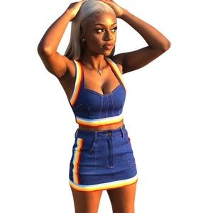 Pants - 😍☀️🚨Women Two Piece Set Summer Denim Skirt Set‼️